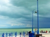 Badacsonyi kikötő vihar előtt