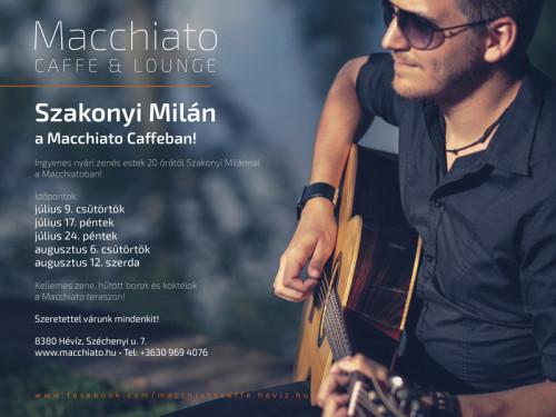 Szakonyi Milán a Macchiato Caffeban